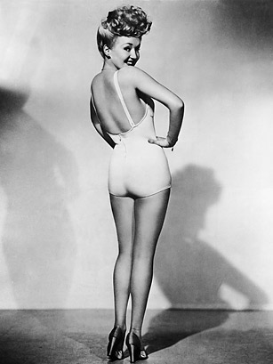 Betty Grable's famous WWII poster