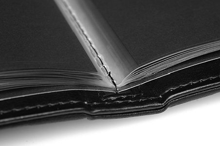 Portfolio Book detail, binding