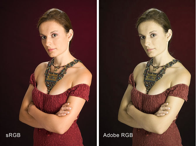 sRGB vs. Adobe RGB colorspace comparison