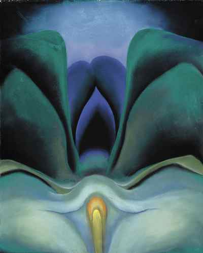 Georgia O'Keefe's Blue Flower, 1918