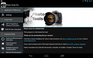 Android OS Photo Tools app